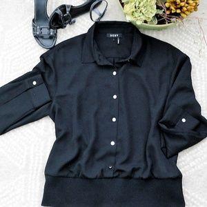 DKNY | Sheer Black Blouse